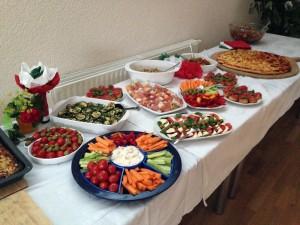 Buffet am italienischen Abend